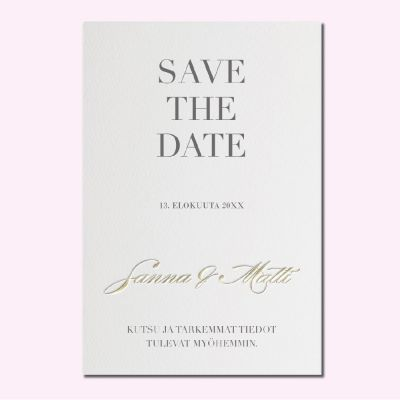 Calligraphen - save the date -kortti
