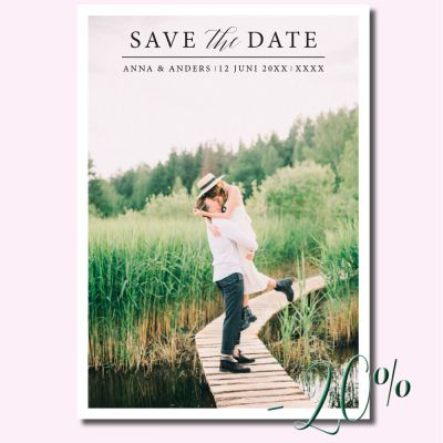 Calligraphen - Save the date -kuvakortti
