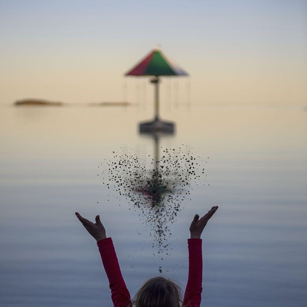 uimaranta hiekka lentää