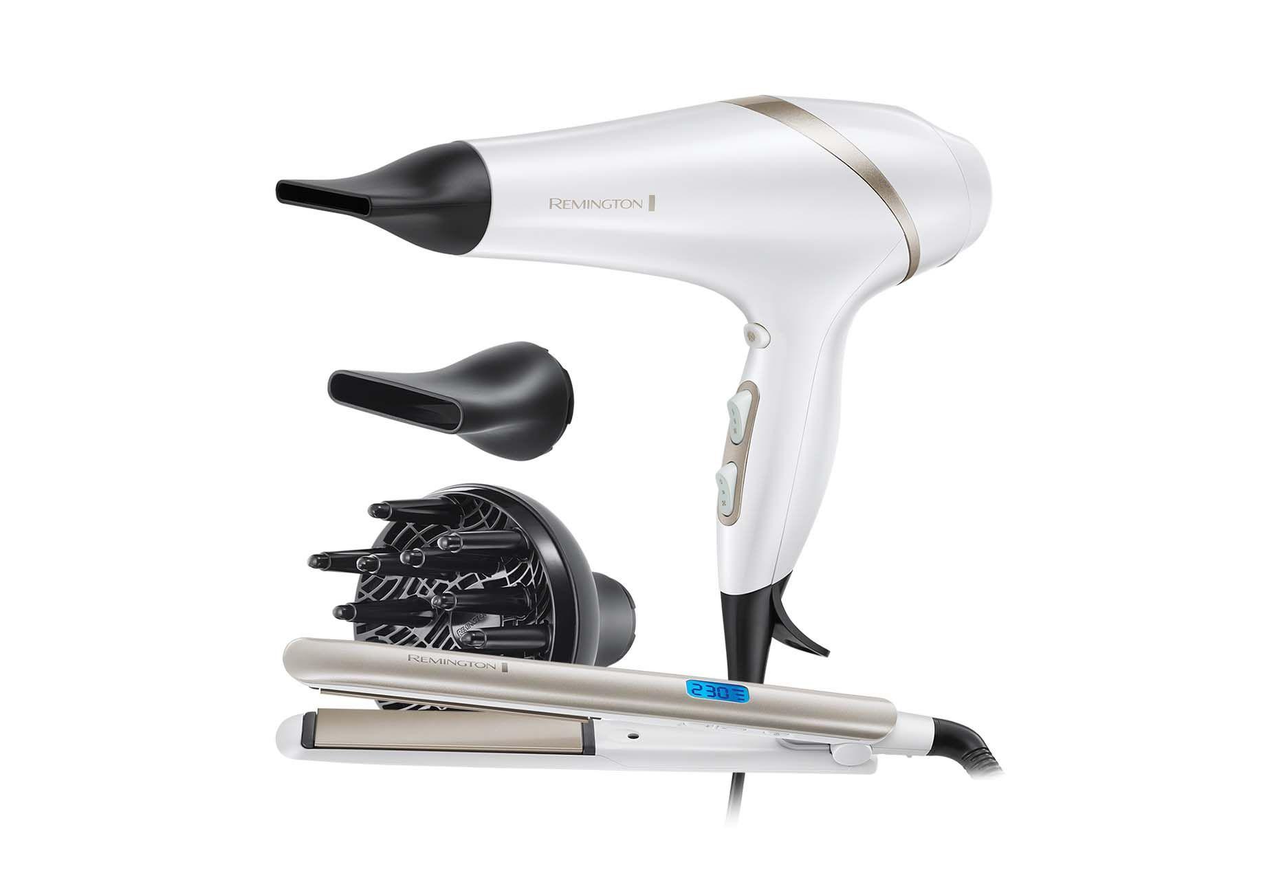 Remington Hydraluxe -sarjan hiustenkuivain ja suoritusrauta