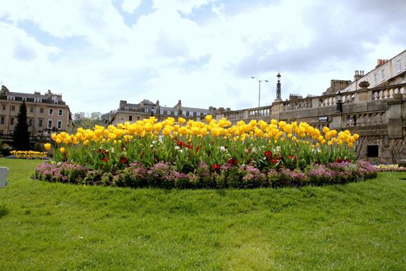 Kukkaloistoa Bathissa.